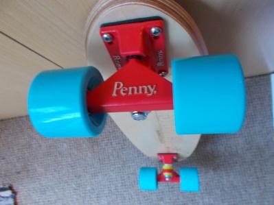 """Penny 3"""" trucks on Deluxe Blue surf FLYER board"""